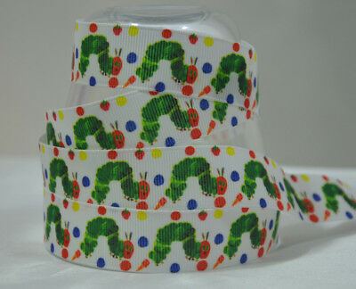 Very Hungry Caterpillar Ribbon 1 Metre 22mm 7/8  Cake Party Gift Wrap Hair • 0.99£