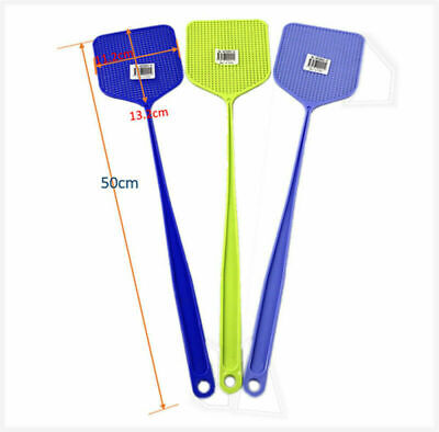 AU19.99 • Buy  10 X Fly Swatter Manual Plastic With Long Handle Assorted