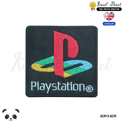 Play Station Logo Embroidered Iron On Sew On PatchBadge For Clothes Bags Etc • 1.99£