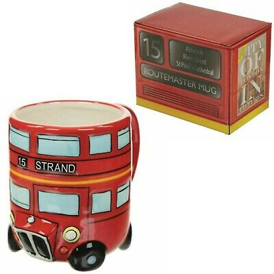 £7.90 • Buy Ceramic Tea Round Cup Route Master Shaped Red Bus Coffee Mug London Gift Box New