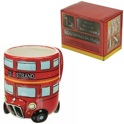Routemaster Round Shaped Coffee Mug Red Bus London Ceramic Tea Cup Gift Box New • 7.90£