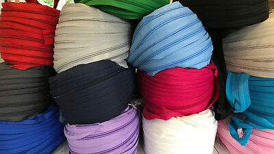 £2.49 • Buy Continuous Zipper Roll, Multiple Colours,  Zip Size 3 And Size 5