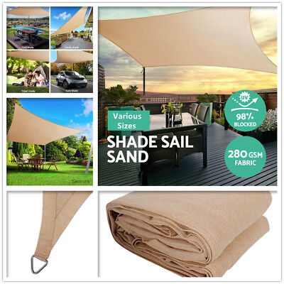 AU57 • Buy Sun Shade Sail Cloth Shadecloth Garden Yard Outdoor Canopy Heavy Duty 280gsm AU