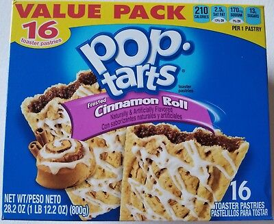 £10.88 • Buy NEW Pop Tarts Toaster Pastries Frosted Cinnamon Roll 16 Count FREE SHIPPING