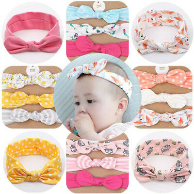 $ CDN6.96 • Buy Baby Girls Lovely Printed Bow Knot Headband With Headwear Hair Accessories Set Z