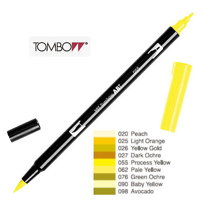 Tombow : Dual Brush Pen  ABT 020 To 098  Yellow Shade • 2.50£