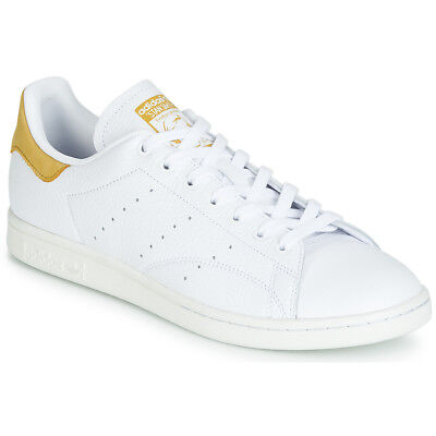 low priced 96ab1 37aeb Sneakers Scarpe Donna Adidas STAN SMITH Bianco Bianco Cuoio 12117653 •  124.99€
