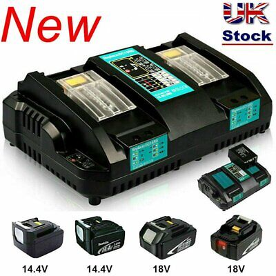 Replace For Makita DC18RD Li-ion LXT 7.2-18v Dual Twin Port Fast Battery Charger • 26.59£