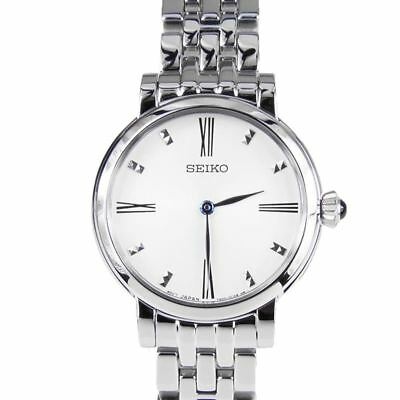 $ CDN212.50 • Buy Seiko Women's Stainless Steel Dress Watch Blue Hands SFQ817P1 New In Box W/ Tags