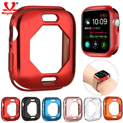 $ CDN3.93 • Buy For Apple Watch Series 4 40/44mm Silicone TPU Bumper Cover IWatch Plating Case