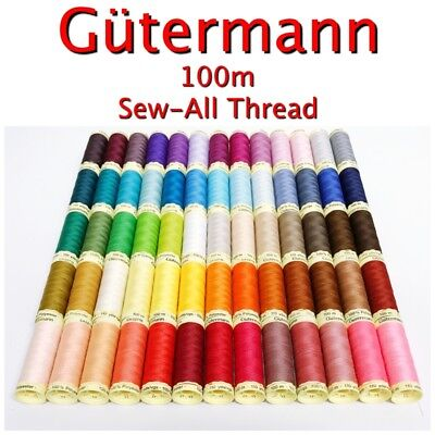 £2.49 • Buy Gütermann Sew-All Thread 100m Reel 100% Polyester Machine + Hand Sewing
