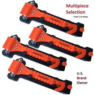 View Details Emergency Escape Tool Auto Car Window Glass Hammer Breaker And Seat Belt Cutter • 22.95$