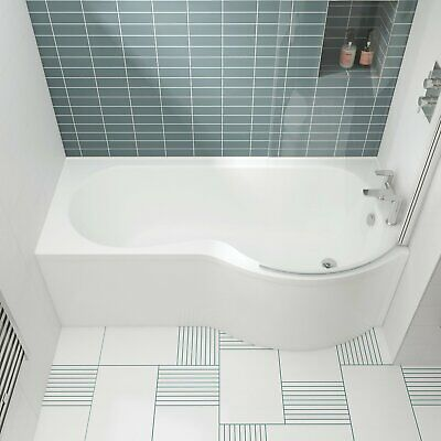 Nuie P-Shaped Shower Bath 1600mm X 700mm/850mm - Right Handed • 197.95£