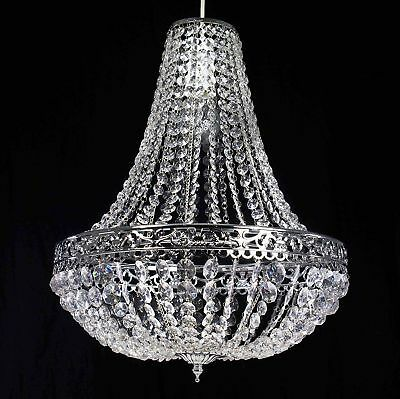 £38.97 • Buy New Large Moroccan K9 Crystals Chrome Chandelier Easy Fit Pendant Light Shade