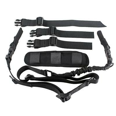 $ CDN27.01 • Buy Tactical 2 Point Fast Adjust Bungee Rifle Sling With Shoulder Pad Dynamic Strap