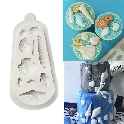 Sea Shells Silicone Mould Cake Beach Conchs Seashell Summer Fondant Baking Mold • 3.99£