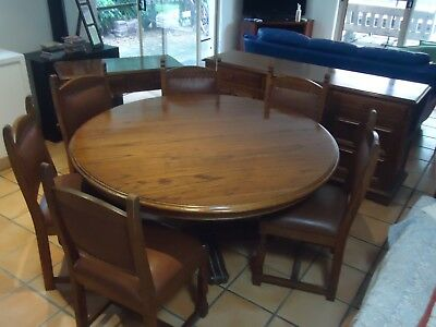AU1600 • Buy Dining Table Set 11 Pieces Colonial British