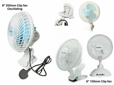 Clip On Air Fan Circulator Cooler Hydroponic Grow Room Tent Office Desk 6  8  • 21.99£