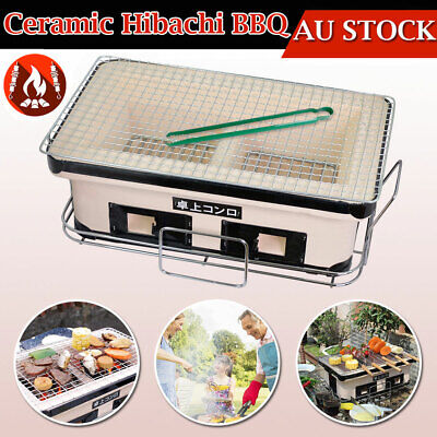 AU81.78 • Buy Japanese Ceramic Clay Hibachi Charcoal Barbecue BBQ Table Grill Camping Picnic