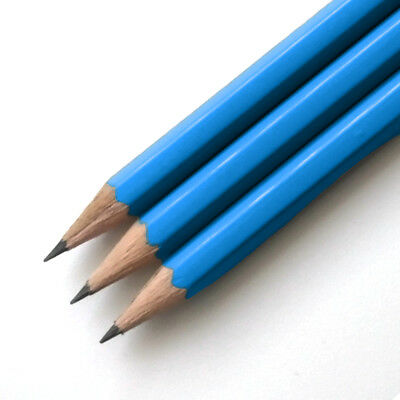 Blue HB Pencils *Personalised* With 1 Name Or Message In Capital Letters Only • 7.99£