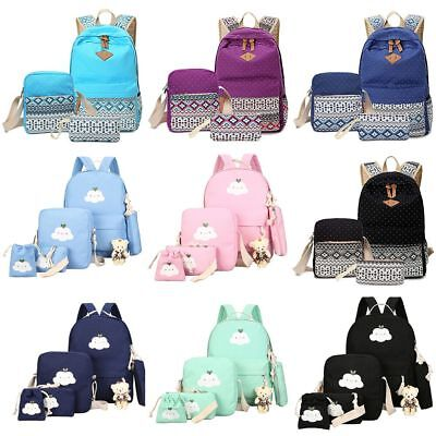 $21.98 • Buy Women Backpack Canvas Rucksack Girls Shoulder School Bag Satchel Bookbag Travel