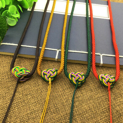 £3.59 • Buy Chinese Knot Hand Woven Braided Beads String Rope Cord Pendant Necklace 4/Colors