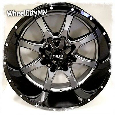 $874.99 • Buy 20 X12  Gray Gloss Black Moto Metal MO970 Wheels Ford F250 F350 Excursion 8x170