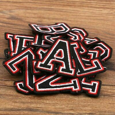 £1.09 • Buy Retro Letter Patch Patches Iron On / Sew On Alphabet Embroidery Clothes