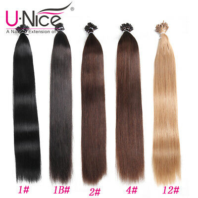$46.77 • Buy 8A Keratin Glossy Stick I-Tip Fusion Indian Remy Human Hair Extensions 100St 50g