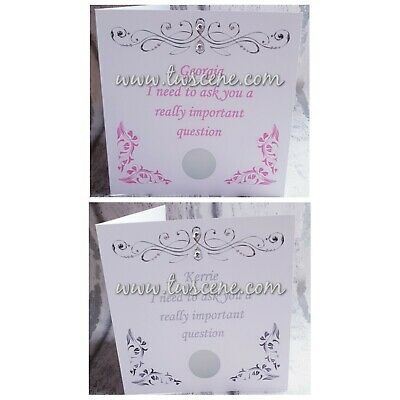 £3 • Buy Will You Be My Bridesmaid Flower Girl Godmother Maid Of Honour Scratch Off Card