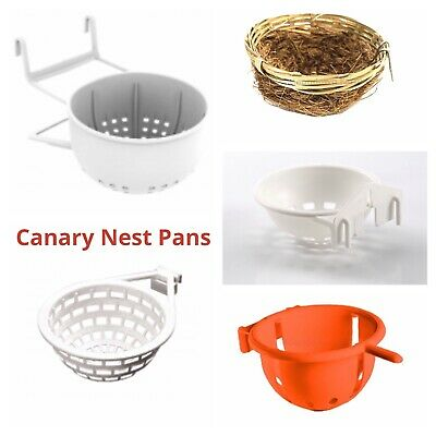 CANARY NEST PANS / BOX FOR CAGE HANGING For NESTING CANARIES & BIRDS Etc • 9.99£