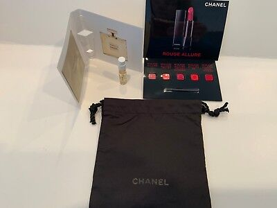 New Chanel Set In Cute Signature Bag Gabrielle & 5 Rouge Allure Shades W/brush!! • 10.73£