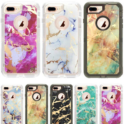 AU14.24 • Buy Marble Defender Case For IPhone 6/7/8 Plus XR 11 Pro Max Work With Otterbox Clip