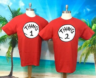 c40a315aa7ff Dr. Seuss Thing 1 Thing 2 Shirts Nice Cute Funny Size Baby 6 Month -