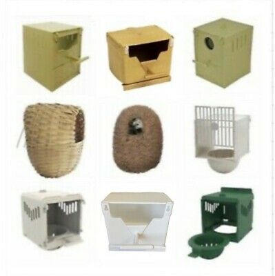 £5.85 • Buy Finch Nest Box / Nests IN OPTIONS Wicker / Plastic For Cage Finches With Hooks