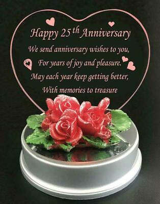 £8.95 • Buy Led Wedding Anniversary Gift 25th Years Of Marriage Silver Anniversary Present