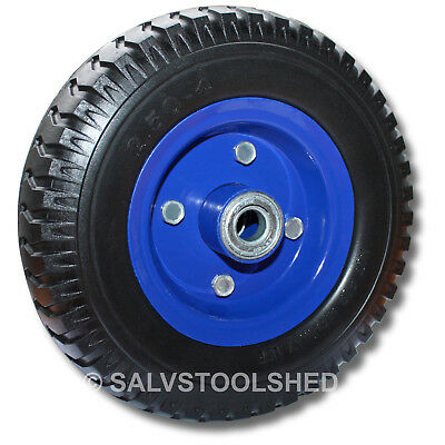 AU39.95 • Buy 8  Solid Wheels Trolley 1 To 4 Pcs Flat Free Puncture Proof Tyre Blue Wheel