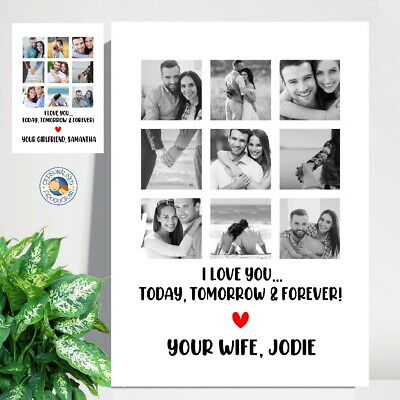 AU18 • Buy VALENTINE'S DAY GIFT PHOTO PRINT A4 Personalised Print Husband Boyfriend Wife