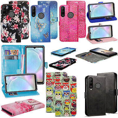 For Huawei P30 Lite New Stylish PU Leather Wallet Flip Stand Magnetic Case Cover • 3.99£
