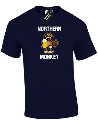Northern Monkey Mens T-shirt Funny Casuals Retro Football Hooligan (col) • 8.99£