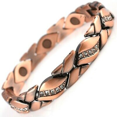 COPPER MAGNETIC BRACELET Pain Relief Carpal Tunnel Arthritis Ladies Womens NEW • 9.95£