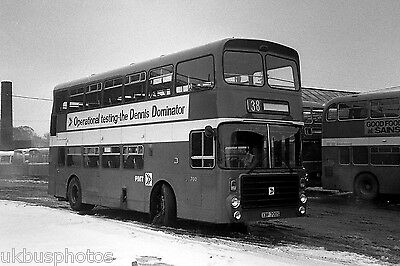 PMT Potteries Motor Traction No.700 Newcastle-Under-Lyme Depot 1980 Bus Photo • 0.99£