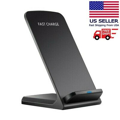 $ CDN12.46 • Buy Qi Wireless Fast Charger Charging Pad Stand Dock Samsung Galaxy S9+ IPhone XS 8