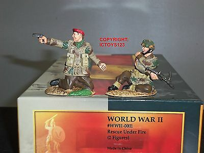 Conte Ww2-011 British Paratroopers Rescue Under Fire Toy Soldier Figure Set • 99.99£