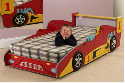 Second Hand Helibed 3ft Single Racing Car High Gloss Red Kids Bed • 48.50£