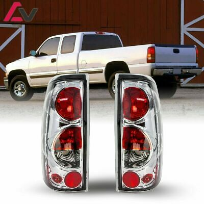 $50.18 • Buy For Silverado Sierra 99-06 Chrome Clear Altezza Tail Lights Lamp Set Replacement