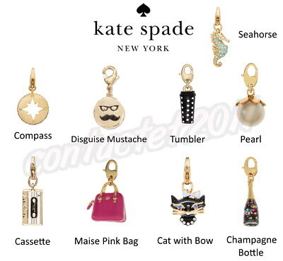 $ CDN50.34 • Buy Kate Spade CHOICE OF How Charming Charms For Bracelet Or Necklace NIP + GIFT BOX