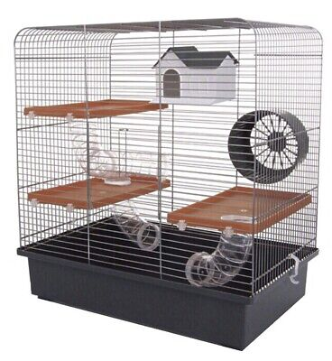 Large Hamster Cage 51cm Tall With Running Tubes Toys House Wheel For Hamsters • 41.99£