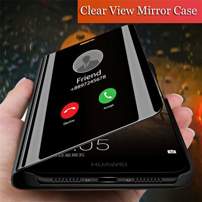 AU6.02 • Buy For Samsung Galaxy J4 J6+ J7 J8 2018 Smart Mirror Flip Leather Stand Case Cover