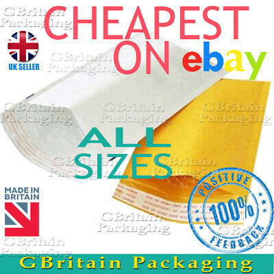 £17.99 • Buy Gold White Bubble Padded Envelopes Mailers Bags -:- Top Price -:-